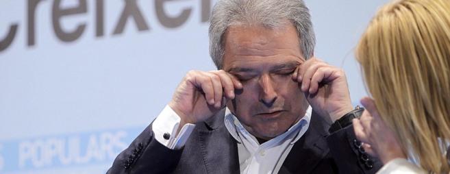El presidente de la Diputación de Valencia, Alfonso Rus, durante un...