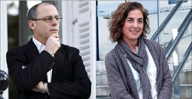 Juan Karlos Izagirre y Cristina Uriarte.