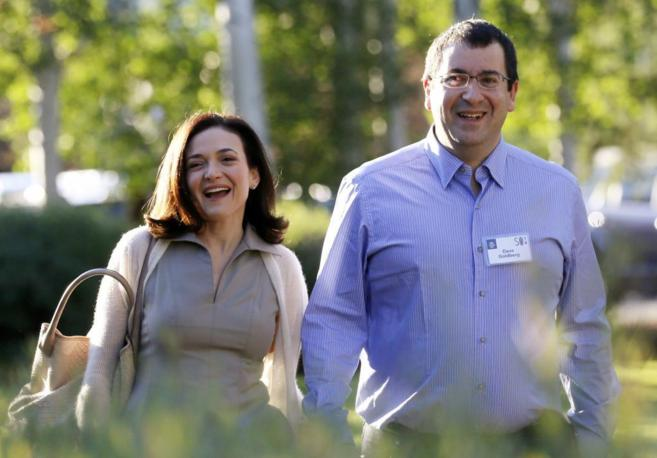 Sheryl Sandberg, y David Goldberg el año pasado en una conferencia en...