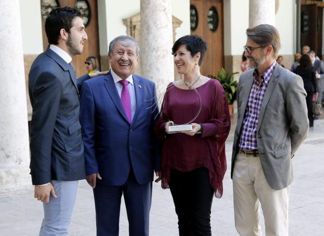 Sergi Pitarch, el embajador de Palestina, Yolanda Álvarez y el...