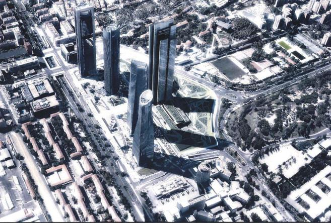 Recreación de cómo quedará la quinta torre de la Castellana.