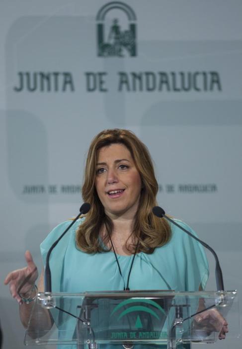 La presidenta en funciones de la Junta de Andalucía, Susana Díaz.