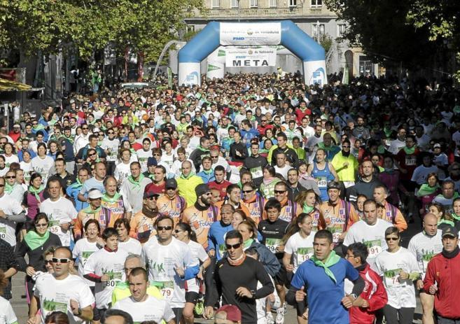 Marcha en Madrid contra el cáncer.