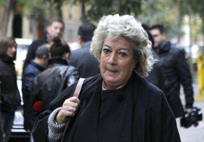 Soledad Cazorla, el pasado noviembre antes de una reunión con el...