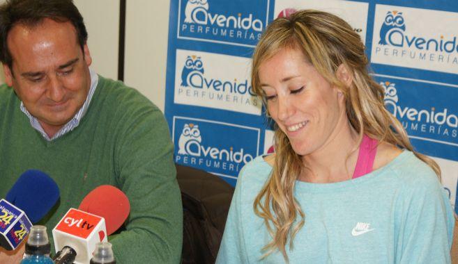Marta Fernández, durante la rueda de prensa de despedida, en...