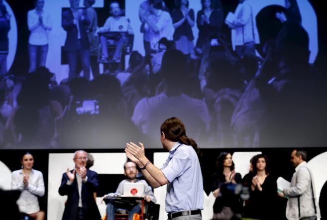Pablo Iglesias, en la presentación del programa.