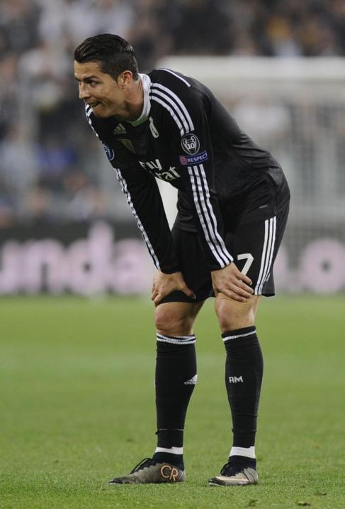 Cristiano Ronaldo, durante el encuentro en Turín.