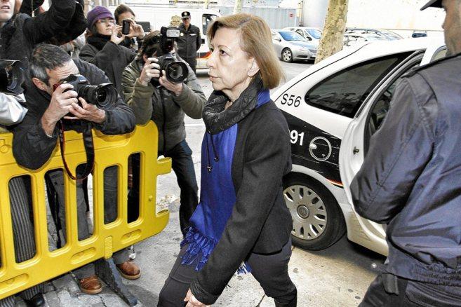Munar, en su última salida de la cárcel para comparecer ante el...