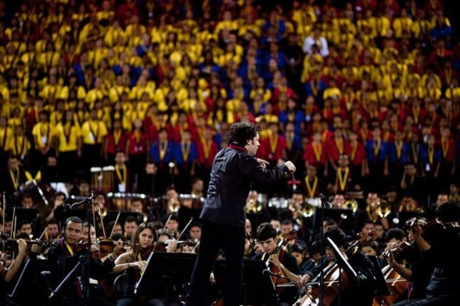 Gustavo Dudamel, director de la Sinfónica Simón Bolívar.