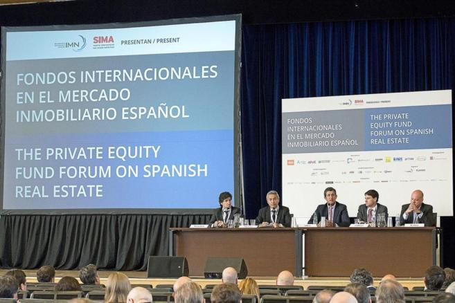 Imagen de archivo de una conferencia sobre fondos internacionales en...