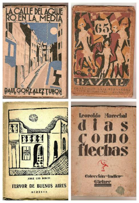 Portadas de algunos libros de la exposición de Casa de América.