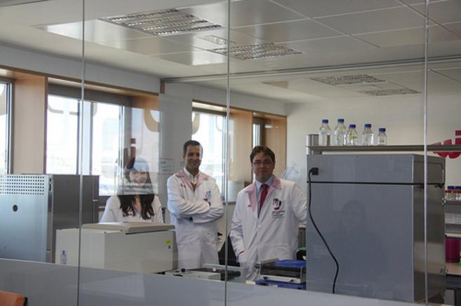 Gonçalo Doria y Christian Sánchez, de Nanoinmunotech.