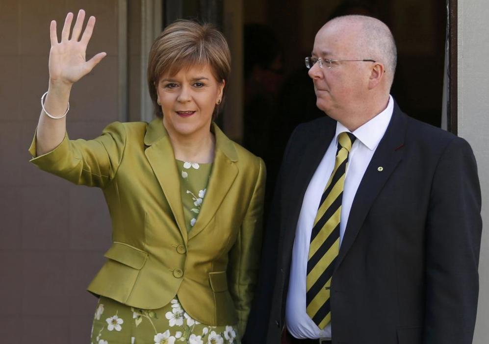 Nicola Sturgeon, ministra escocesa y líder del Partido Nacional...
