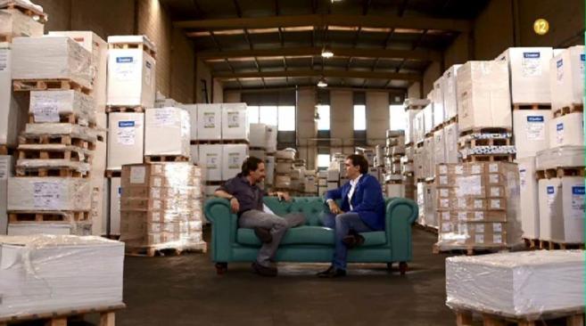 Pablo Iglesias y Albert Rivera durante la entrevista editada que...