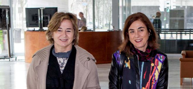 Arantza Aurrekoetxea y Cristina Uriarte, viceconsejera y consejera de...