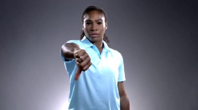 Serena Williams en un fotograma.