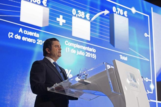 El presidente de Endesa, Borja Prado, en la última junta general de...