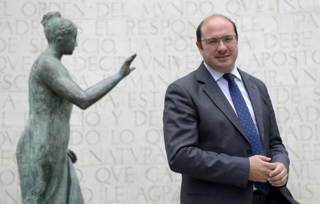 Pedro Antonio Sánchez, candidato del PP a presidir la Región de...