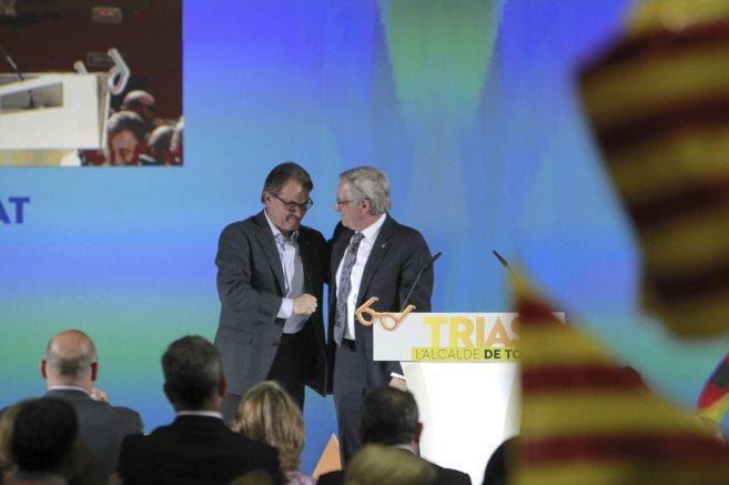 Artur Mas y Xavier Trias, durante el arranque de campaña de CiU en...