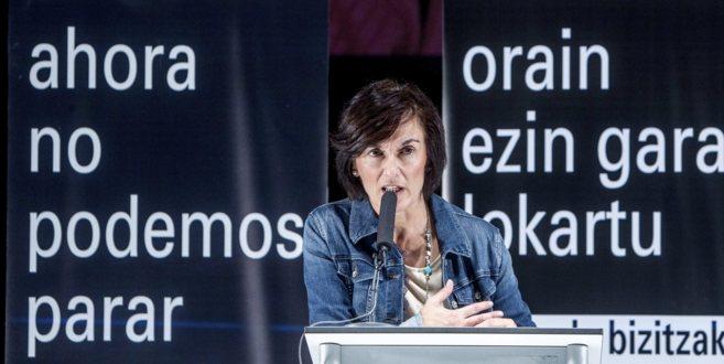 La directora de EiTB, Maite Iturbe, en la presentación de una...
