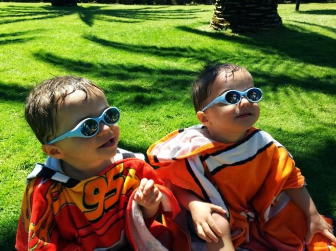 Los niños pueden empezar a utilizar gafas de sol a partir del primer...