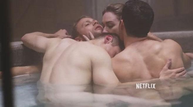 Escena de una orgía en el tráiler de la nueva serie de los hermanos...