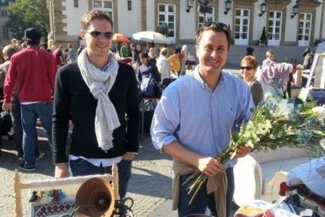Gauthier Destenay y Xavier Bettel, dando un paseo por Luxemburgo.