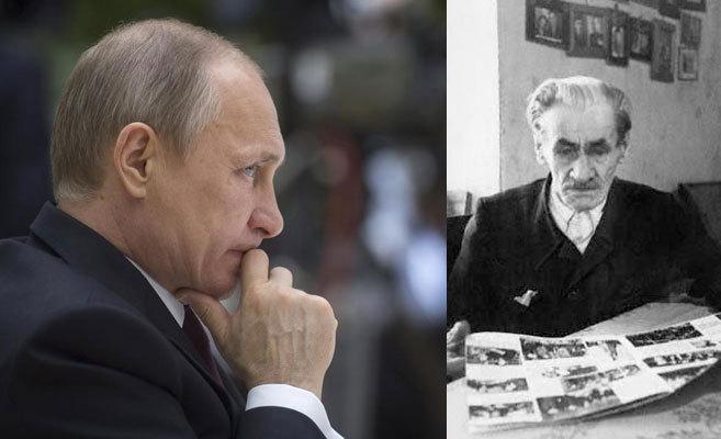 Vladimir Putin y su abuelo cocinero, Spiridon (dcha).