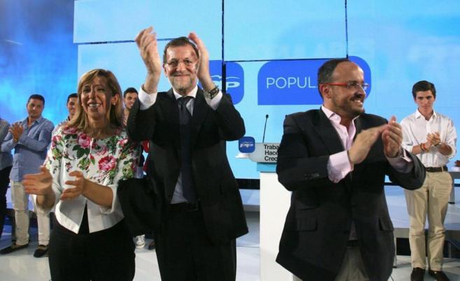 Mariano Rajoy, con Alicia Sánchez-Camacho en Tarragona.