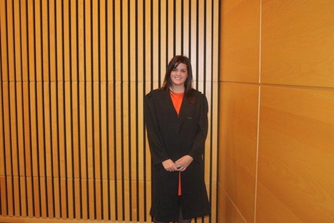 Sandra Gómez, el día de su jura como abogada.