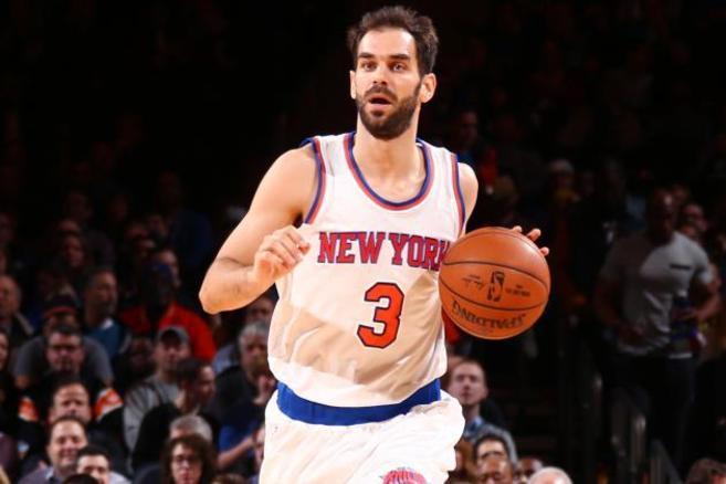 José Manuel Calderón, durante un encuentro de los Knicks.