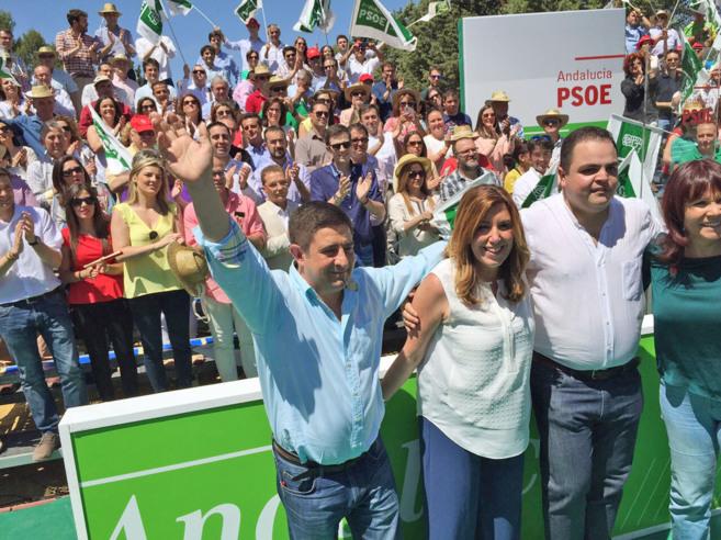 La presidenta de la Junta, Susana Díaz, en un acto político en Jaén...