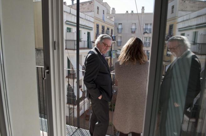 Xavier Trias, en una visita a Ciutat Vella, en Barcelona, en el marco...