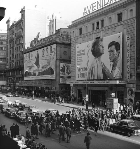 La Gran Vía de Madrid, en 1962.