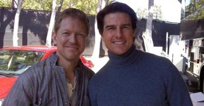 El actor Michael Enright con compañero de trabajo Tom Cruise.