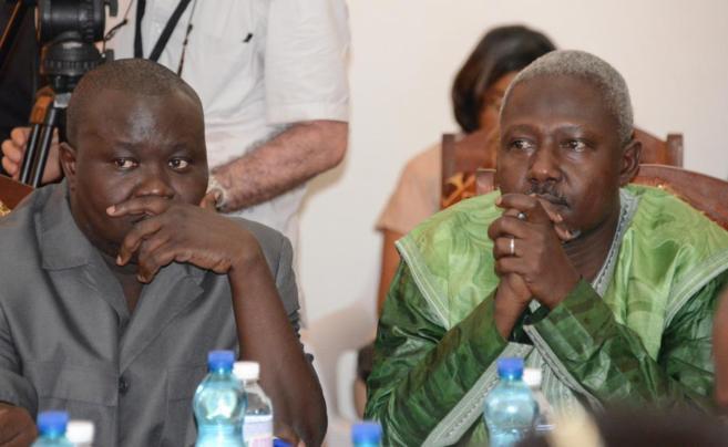 Edouard Ngaissona, coordinador del grupo anti-balaka, y Mohamed Moussa...