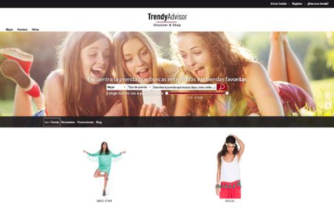 El buscador de moda 'online' TrendyAdvisor.