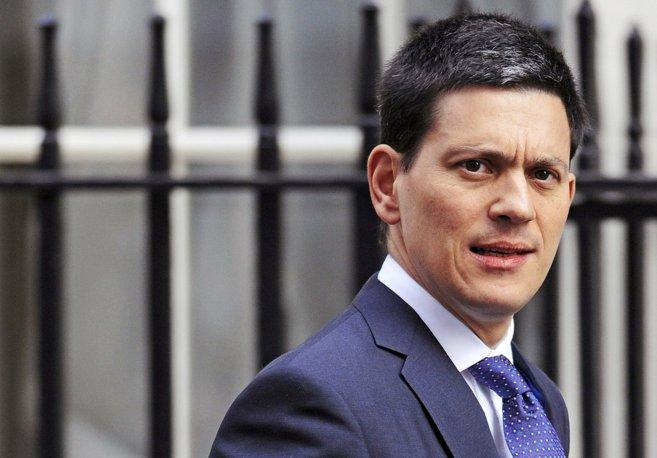 El político laborista David Miliband, hermano de Ed Miliband, en...