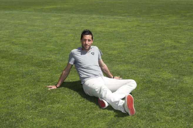 Capdevila, hace un año, cuando se despidió del Espanyol.
