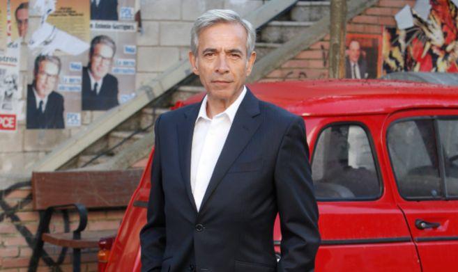 Imanol, en uno de los platós exteriores de la serie de TVE.