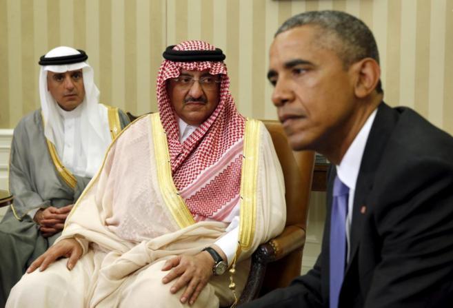 Obama mantiene una reunión con el príncipe heredero de Arabia Saudi,...