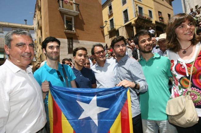 El president de la Generalitat, Artur Mas, en un acto de campaña del...