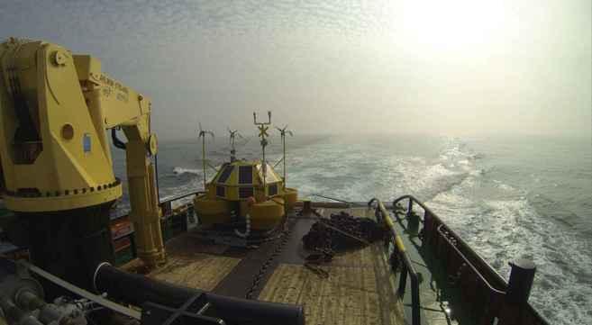 Imagen del despliegue de la unidad Eolos FLS200 unit.