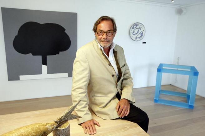 Didier Guillon, presidente de Valmont, en la sala de arte de la sede...