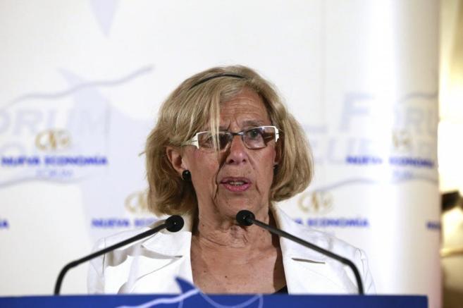 La juez Manuela Carmena, candidata a la Alcaldía de la capital por...
