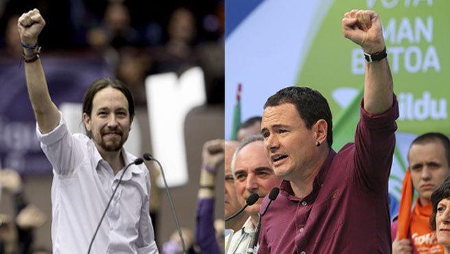 Pablo Iglesias y Hasier Arraiz.