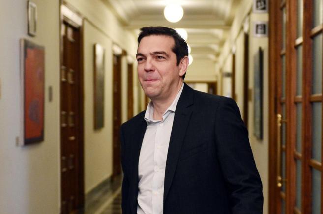 El primer ministro griego, Alexis Tsipras, en el Parlamento heleno