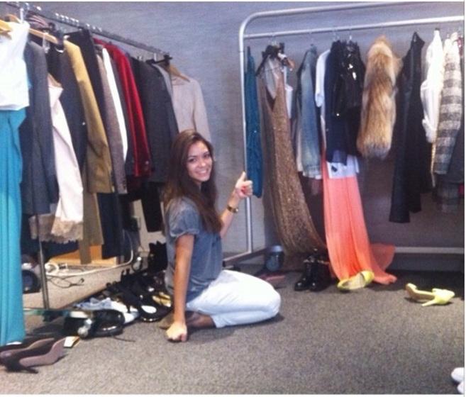 La estilista Eva Fernández, en un 'showroom' antes de una...