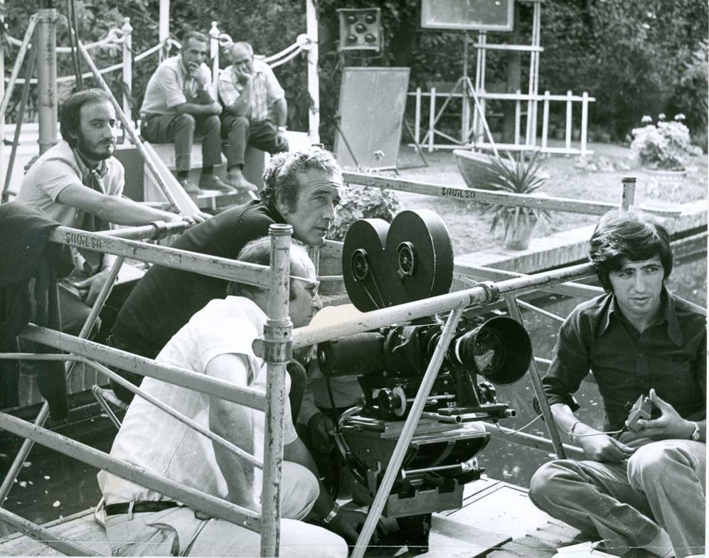 Durante uno de los numerosos rodajes en los que trabajó.