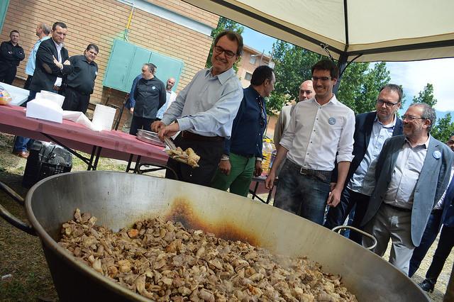 El president de la Generalitat, Artur Mas, y el candidato de Lleida,...